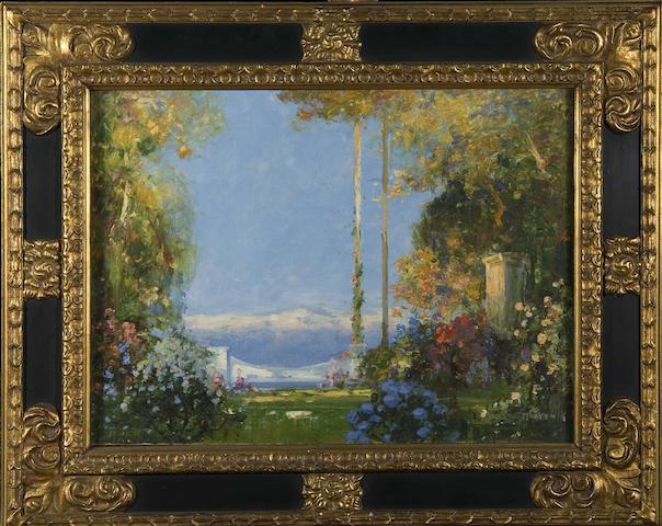 "Thomas Edwin Mostyn (British, 1864-1930) ""The Garden of Peace"""