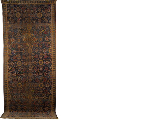 A Karabagh carpet South Caucasus, 21 ft 11 in x 8 ft 6 in (669 x 158 cm)