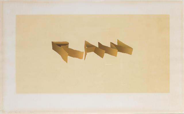 Edward Ruscha (American, born 1937) Raw Screenprint, 1971, printed in colours, on Louvain Opaque Cov