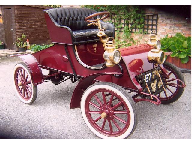 1903 Cadillac Model A 6 ½ hp Two Seater Runabout  Engine no. 391