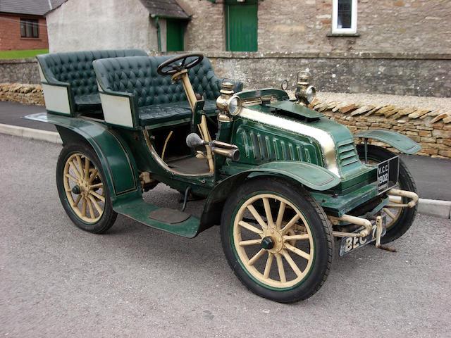 1902 Darracq 9hp Single-cylinder Swing Seat Tonneau  Engine no. 3159