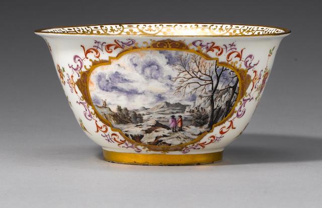 A Meissen slop bowl