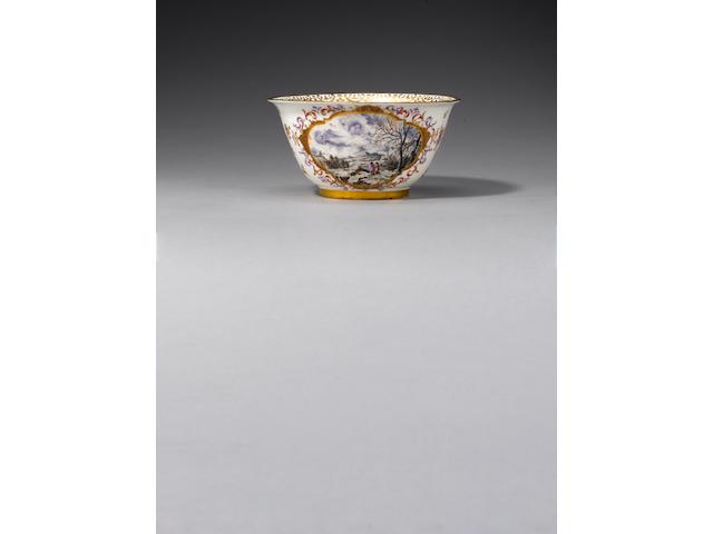 A very fine Meissen slop bowl circa 1725