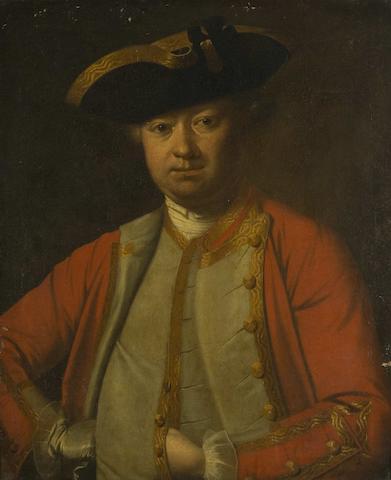 English School, late 18th Century Portrait of a man, said to be Captain Bartholomew Chaundy