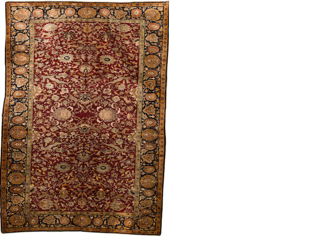 A Kayseri silk carpet West Anatolia, 8 ft 9 in x 6 ft 11 in (297 x 211 cm) some minor wear
