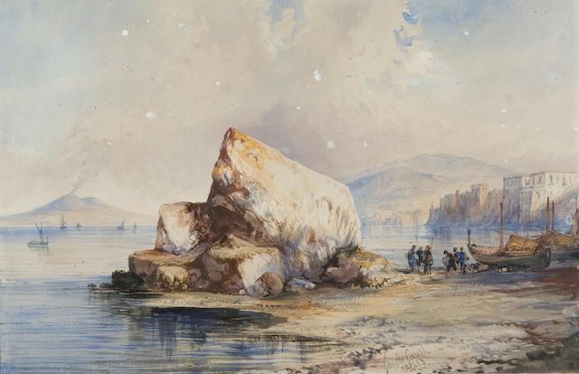 "Consalvo Carelli (Italian, 1818-1900) ""Naples"""