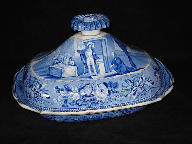 A Jones & Son 'British History' vegetable dish and cover