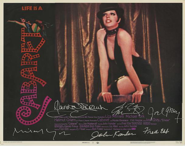 A signed 'Cabaret' lobby card set, ABC Pictures, 1971,