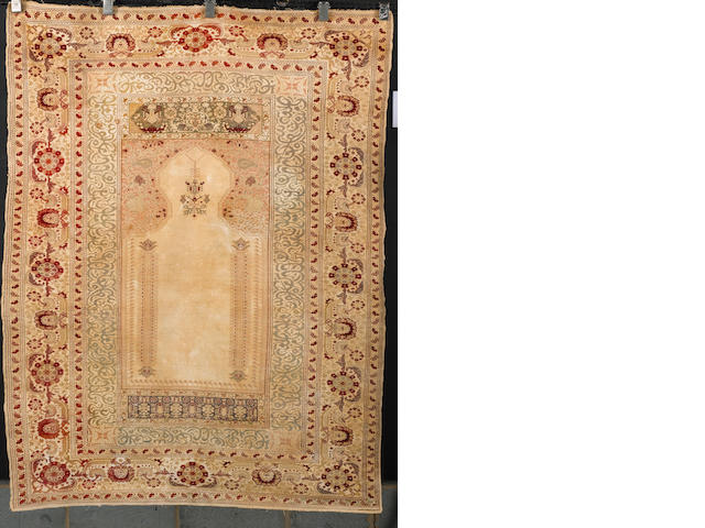 A Pandirma prayer rug West Anatolia, 5 ft 10 in x 4 ft 3 in (178 x 130 cm)