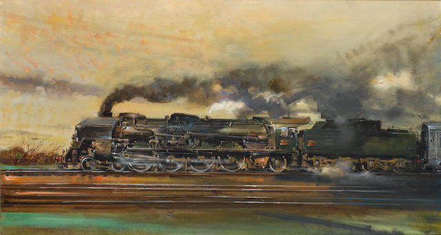 Terence Cuneo (British, 1907-1996) The Mistral 57 x 101.5 cm. (22 1/2 x 40 in.)