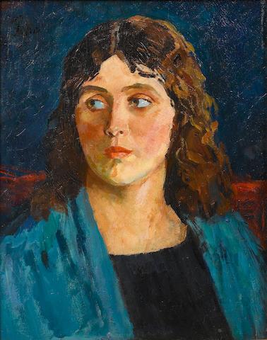 Augustus John O.M., R.A. (British, 1878-1961) Camelia 50.8 x 40.6 cm. (20 x 16 in.)