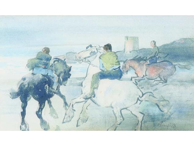 Edmund Blampied (Jersey, 1886-1966) 19.5 x 34cm.