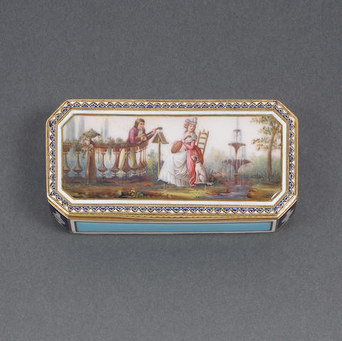 An early 19th century Swiss gold and enamelled snuff box, by Jean-Georges Rémond et Cie, Geneva,
