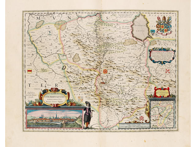 BLAEU (WILLEM) and JAN BLAEU Le theatre du monde, ou nouvel atlas, 4 parts in 2 vol.