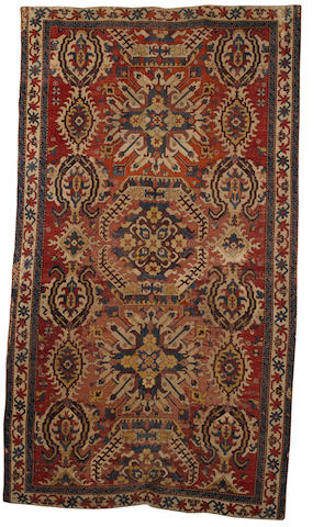 A late 18th early 19th century Karabagh carpet South Caucasus, 11 ft 11 in x 6 ft 6 in (363 x 198 cm