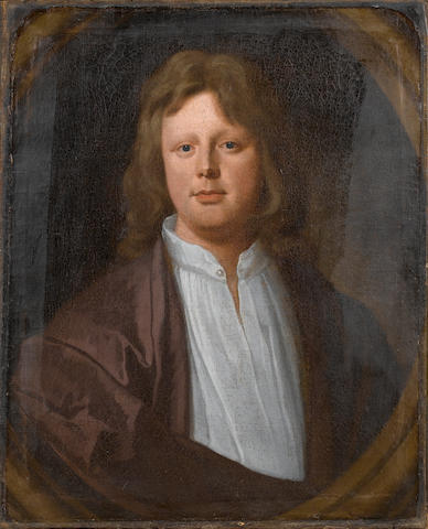 William Sonmans (died 1708 London) Portrait of a youth, bust-length,  76.4 x 65.6 cm. (30 1/8 x 25 7