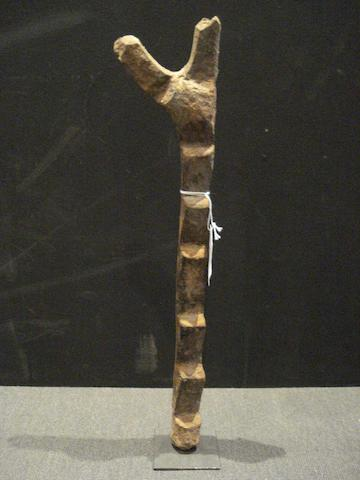 A ladder for ritual or domestic use