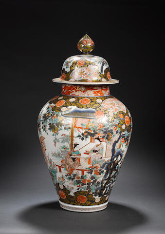 A large Imari jar and cover 19th century