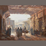Edward Seago R.B.A., R.W.S. (British, 1910-1974) The Souk, Marrakesh 50 x 65 cm. (19¾ x 25½ in.)