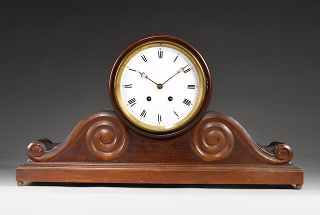 A Victorian mahogany institution mantel clock