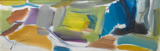 Ivon Hitchens (British, 1893-1979) Spanish Chestnut, Yellow Distance 47.5 x 143.5 cm. (18 3/4 x 56 1