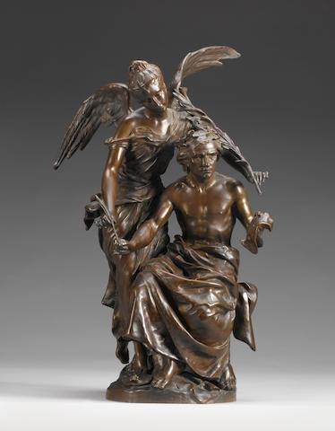 Honoré Henri Plé (French, 1853-1922): A bronze figural group emblematic of the Arts