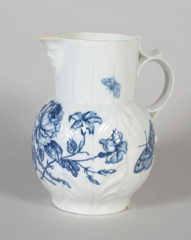 A Worcester cabbage leaf jug Circa 1770