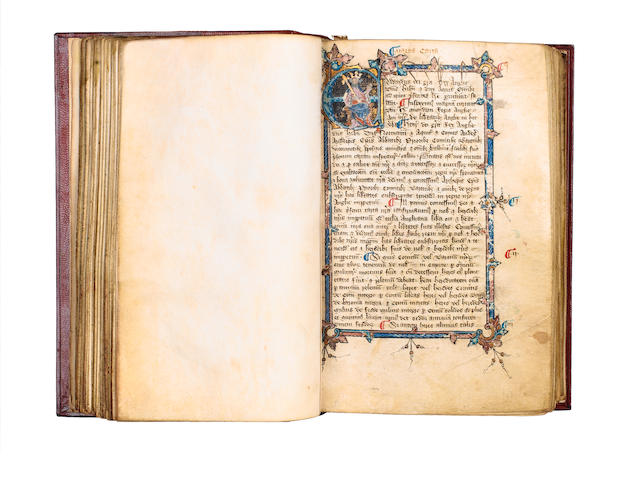 MANUSCRIPT, MAGNA CARTA  Magna Carta, Statutes and Charters to the end of the reign of Richard II, i
