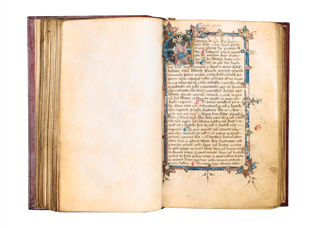 MANUSCRIPT, MAGNA CARTA Magna Carta, Statutes and Charters to the end of the reign of Richard II, in Latin and law French, manuscript on vellum