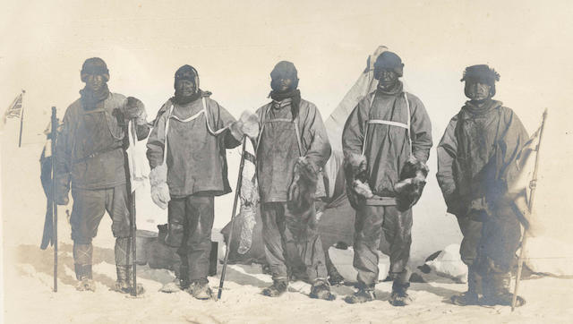 PONTING (HERBERT) 'The Camp at the South Pole'
