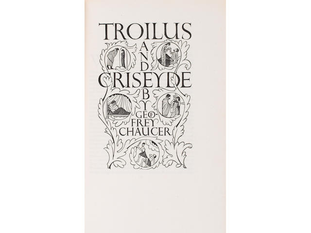 GILL (ERIC) CHAUCER (GEOFFREY) Troilus and Criseyde... with Wood Engravings by Eric Gill, NUMBER 101