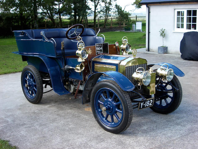 1904 James & Browne 9hp Twin Cylinder Rear Entrance Tonneau  Chassis no. 126 Engine no. 30