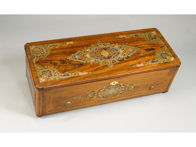 A fine Grand Format Overture cylinder Musical Box by Nicole Freres,