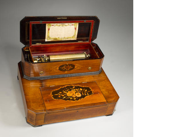 An Interchangeable musical box by Bremond,