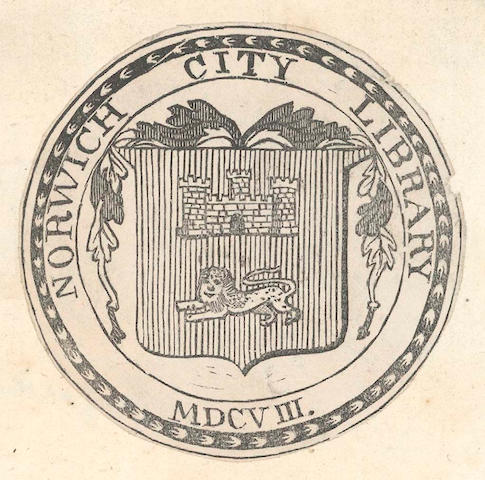 LIBRARIES Three albums containing upwards of 450 bookplates for school, university, parochial and ca