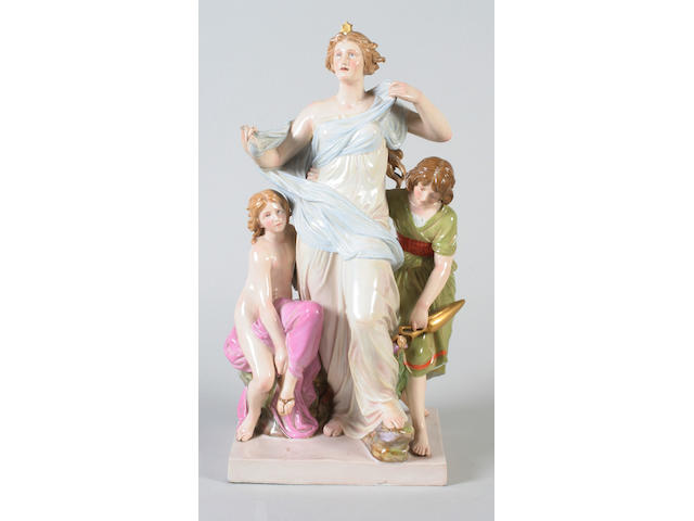 A Meissen figure group emblematic of Morning