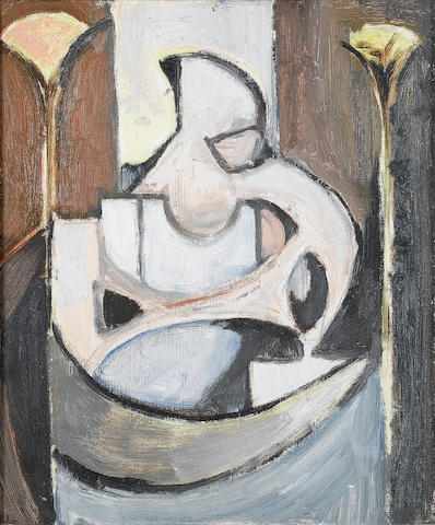 Paul Feiler (British, born 1918) Mother and Child 1949 31 x 26 cm. (12 1/4 x 10 1/4 in.)
