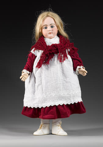 Large bisque head girl doll, probably Simon & Halbig, circa 1910
