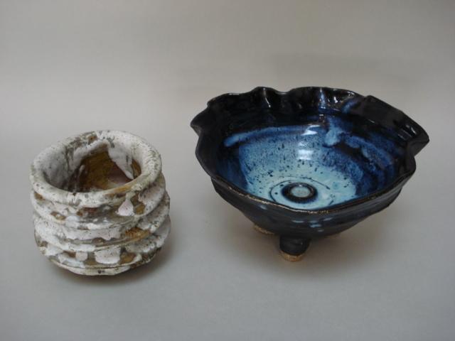 Aki Moriuchi two Bowls Diameter of largest 22cm (8 3/4in.)