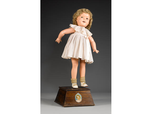 A very rare Shirley Temple mechanical shop display doll, circa 1935