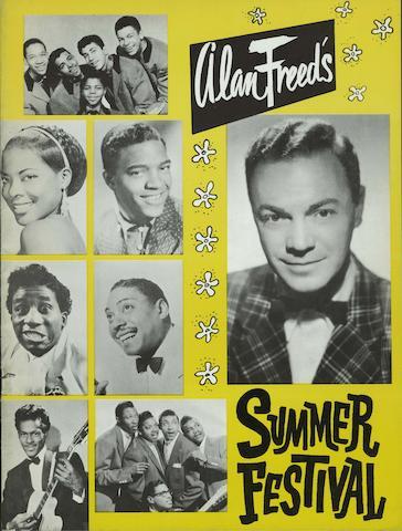 Five original 1957 concert programmes, US,