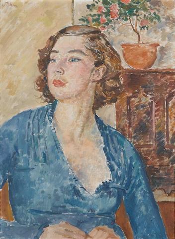 Augustus John O.M., R.A. (British, 1878-1961) Poppet 76.2 x 56 cm. (30 x 22 in.)