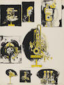 Graham Sutherland O.M. (British, 1903-1980) Sheet of Studies (comparisons: machines and organic form