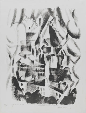 Robert Delaunay (French, 1885-1941) La Fenêtre sur la Ville Lithograph, 1925/26, a posthumous impres