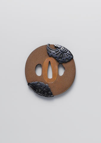 An Ishiguro school copper nanako tsuba Edo Period, 19th century