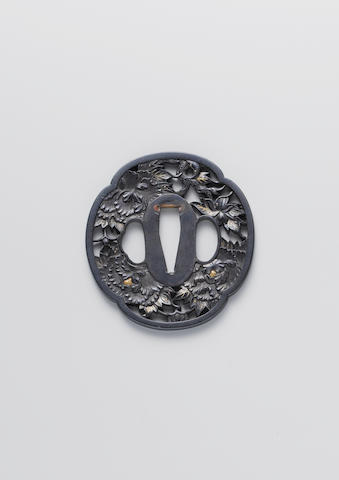 A kinko shakudo tsuba Edo Period, early 19th century