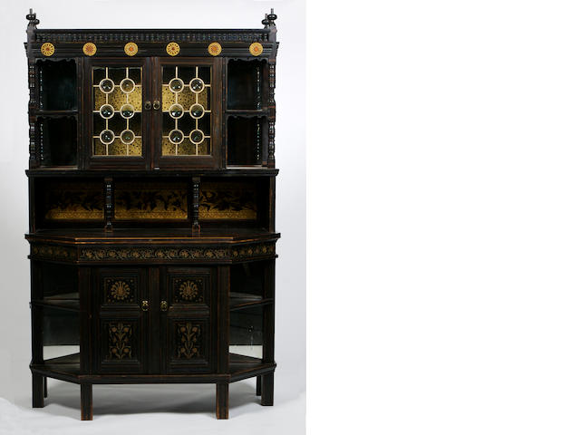 British, circa 1870 an Aesthetic Movement ebonised cabinet
