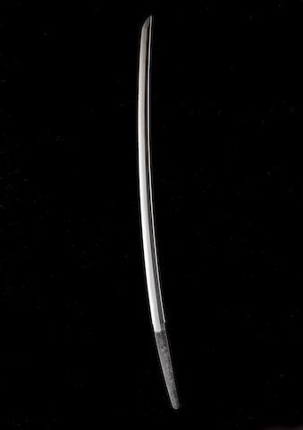 A Musashi katana blade Edo Period, 17th century, by Kazusa-no-Suke Fujiwara Kaneshige