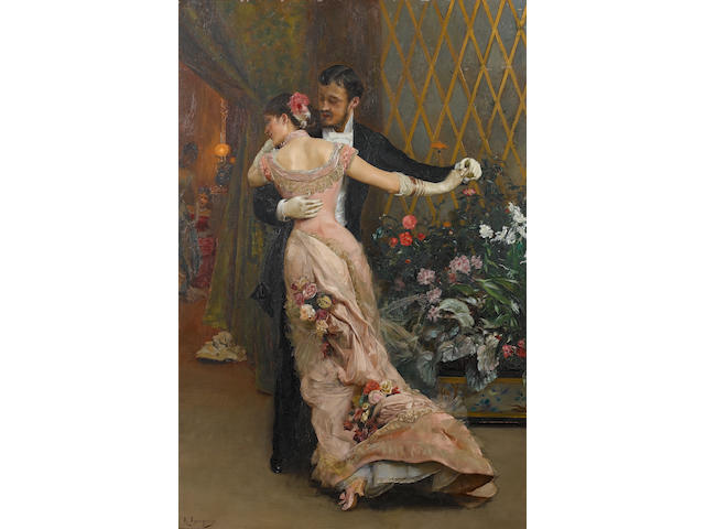 Rogelio de Egusquiza (Spanish, 1845-1915) The end of the ball 105 x 70.5 cm (41 x 27 3/4 in.)