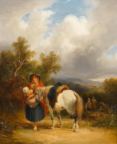William Shayer, Snr. (British, 1787-1879) The gypsy camp 62 x 50 cm. (24 1/2 x 19 3/4 in.)